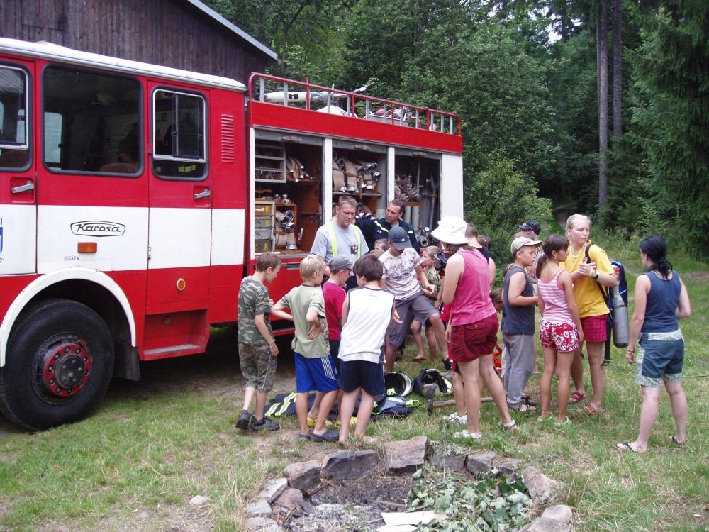 hasiči na táboře