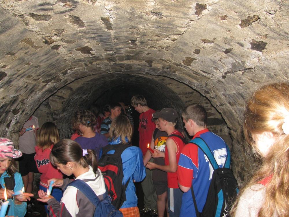 v katakombách Kláštera