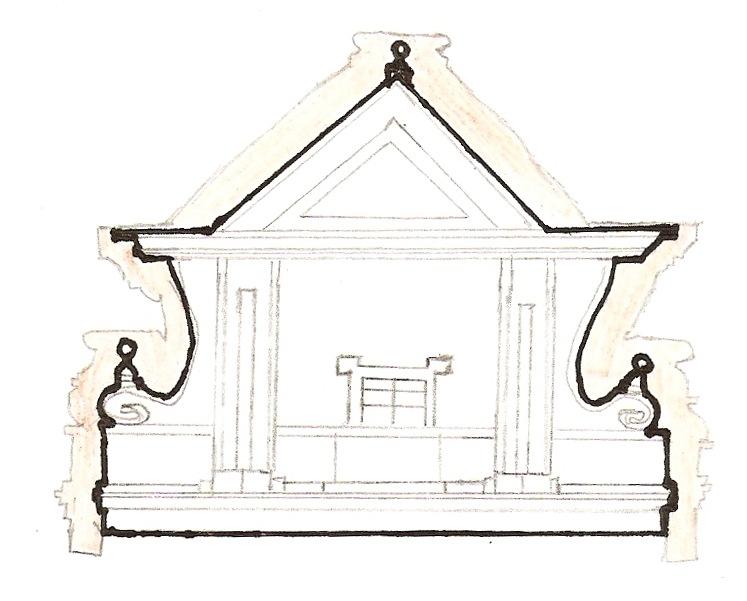 barokní štít Petr Janeček 8. B