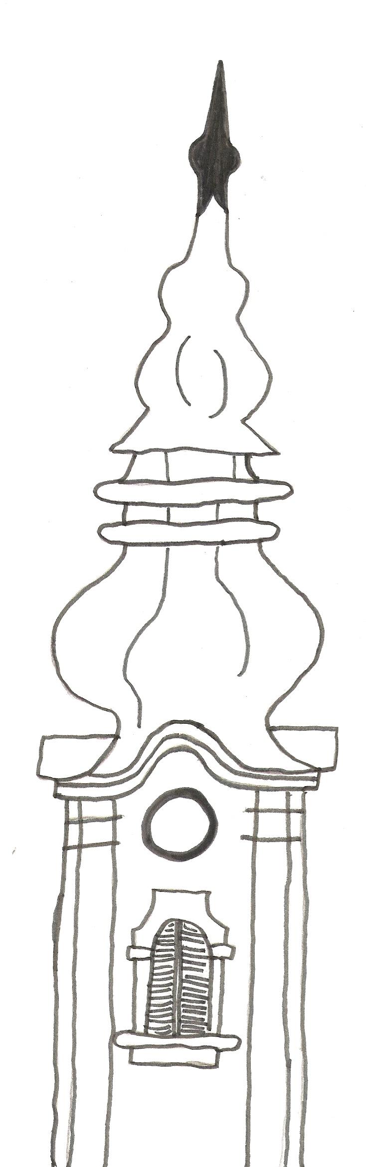 barokní věž - Kevin Švihálek 8. B