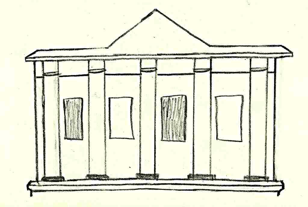 klasicistní štít - F. Ledecký