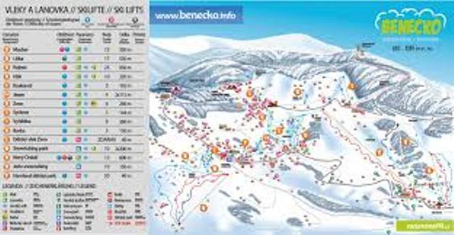 mapa Benecko